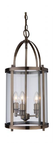Firstlight 8301AB Antique Brass Imperial Round Lantern - 3 Light